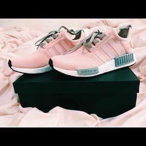 Women's Adidas NMD R1 Pink/Grey Size 5